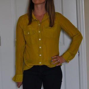 J Crew medium button up blouse